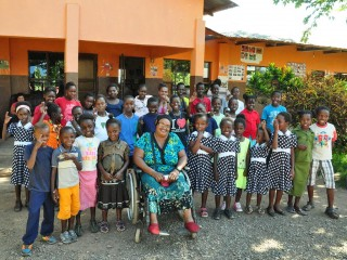 Roselyn Swai with orphans
